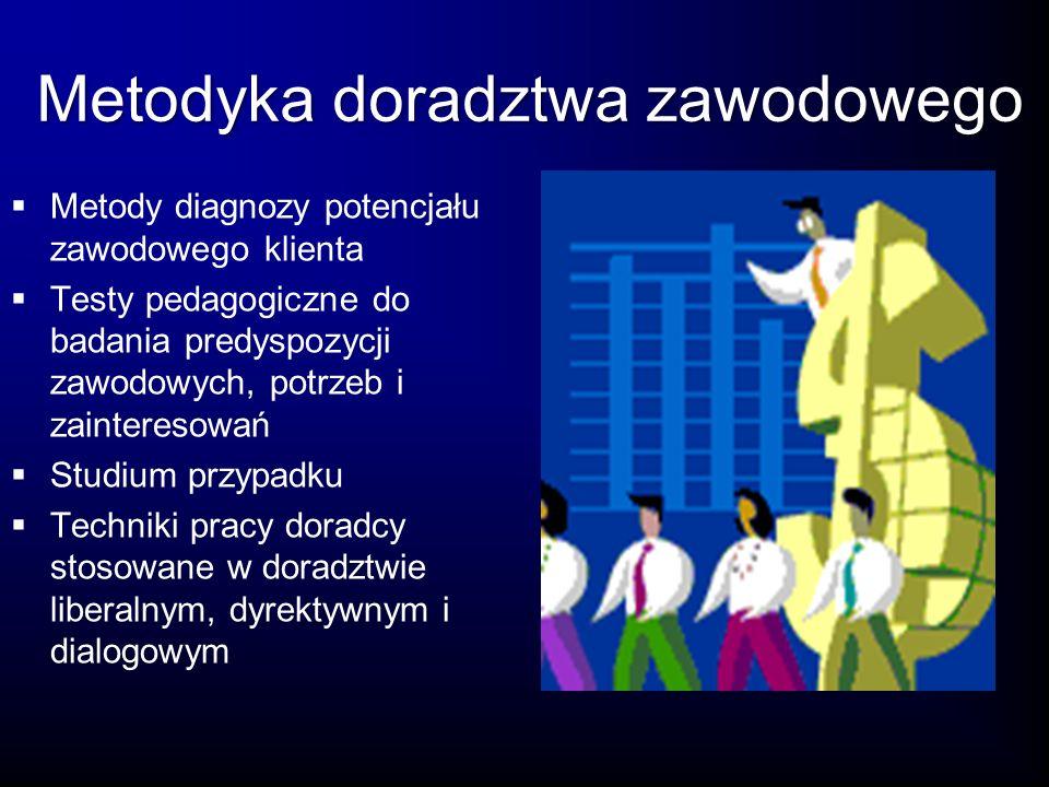 Doradztwo zawodowe w Unii Europejskiej Analiza porównawcza modeli doradztwa zawodowego w Polsce i krajach UE Zatrudnianie w Europejskim Obszarze Gospodarczym (EOG) Teorie doradztwa w zakresie karier międzynarodowych Problematyka różnic kulturowych w doradztwie zawodowym