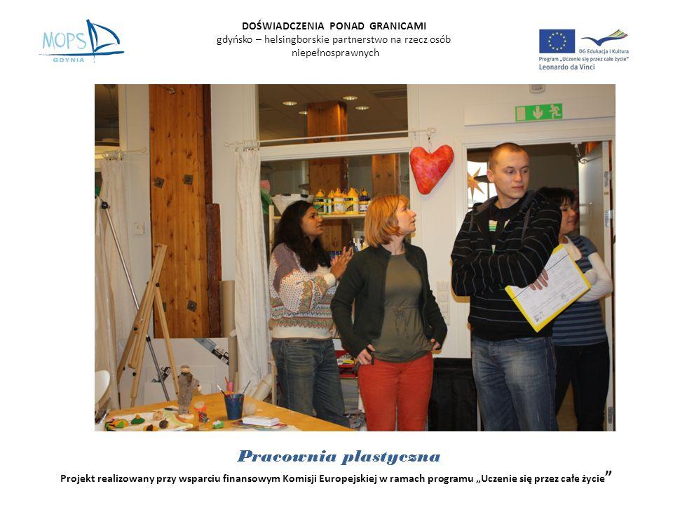 DOŚWIADCZENIA PONAD GRANICAMI gdyńsko – helsingborskie partnerstwo na rzecz osób niepełnosprawnych Projekt realizowany przy wsparciu finansowym Komisji Europejskiej w ramach programu Uczenie się przez całe życie Pracownia Dziewiarska Krosna do tkania
