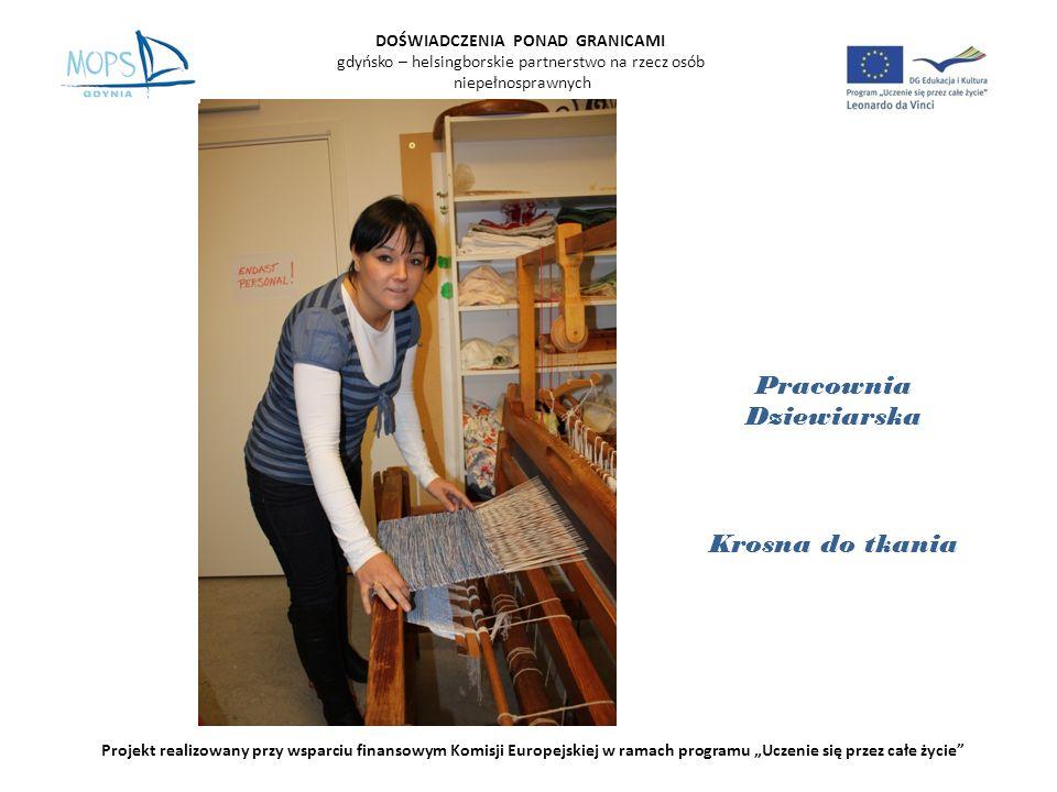 DOŚWIADCZENIA PONAD GRANICAMI gdyńsko – helsingborskie partnerstwo na rzecz osób niepełnosprawnych Projekt realizowany przy wsparciu finansowym Komisji Europejskiej w ramach programu Uczenie się przez całe życie K ą cik sportowy i k ą cik malarski