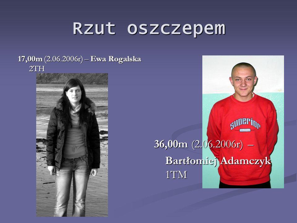 Skok w dal 3,90m (30.05.2007r) – Edyta Malczewska 1S 5,80m (2.10.2008r) – Konrad Krzyżanowski 1TB