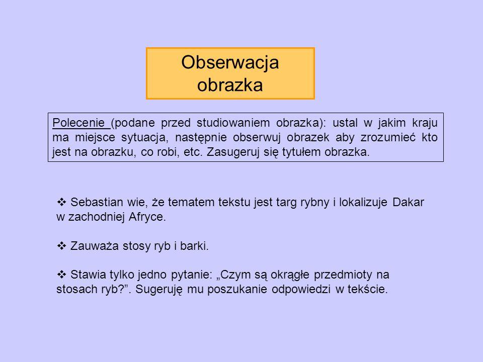 Obserwacja obrazka Polecenie (podane przed studiowaniem obrazka): ustal w jakim kraju ma miejsce sytuacja, następnie obserwuj obrazek aby zrozumieć kt