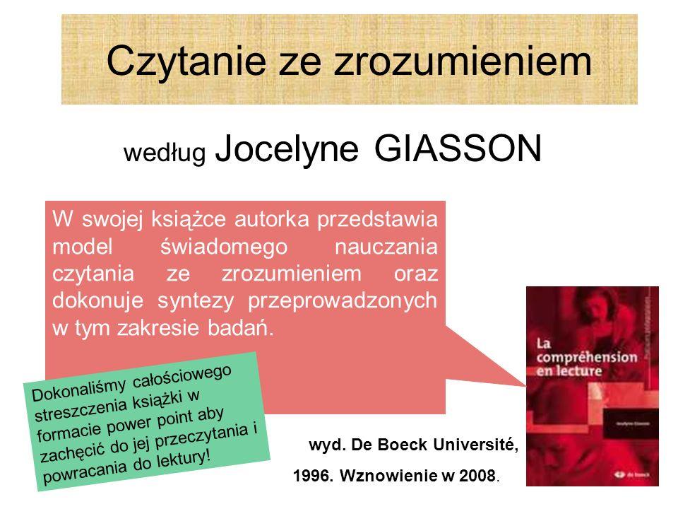 Czytanie ze zrozumieniem według Jocelyne GIASSON wyd.