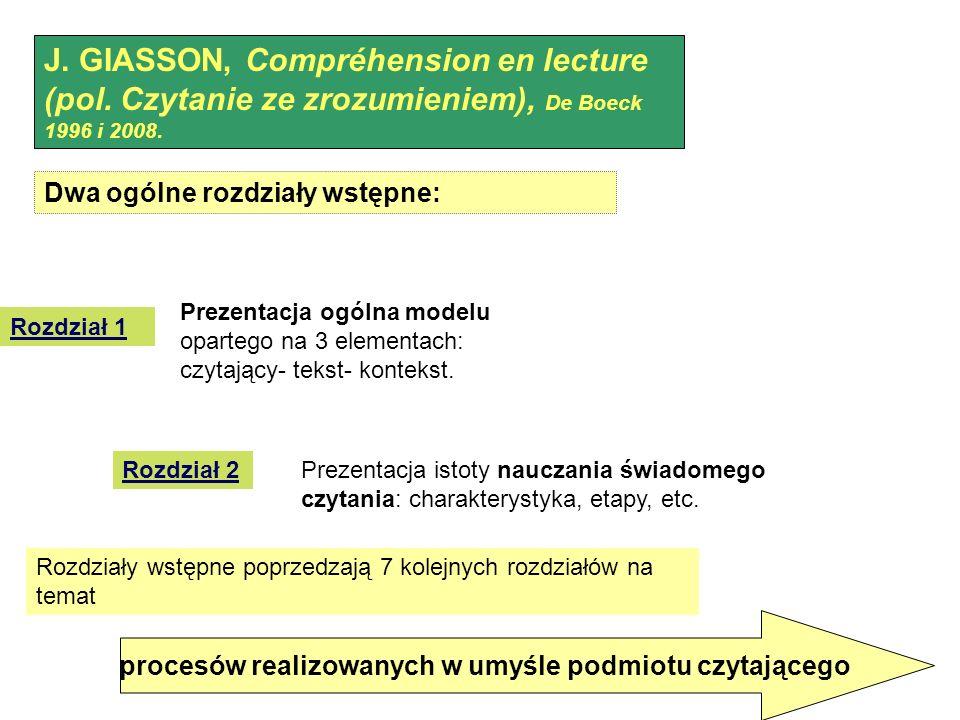procesów realizowanych w umyśle podmiotu czytającego J.