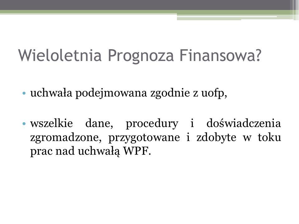Wieloletnia Prognoza Finansowa.