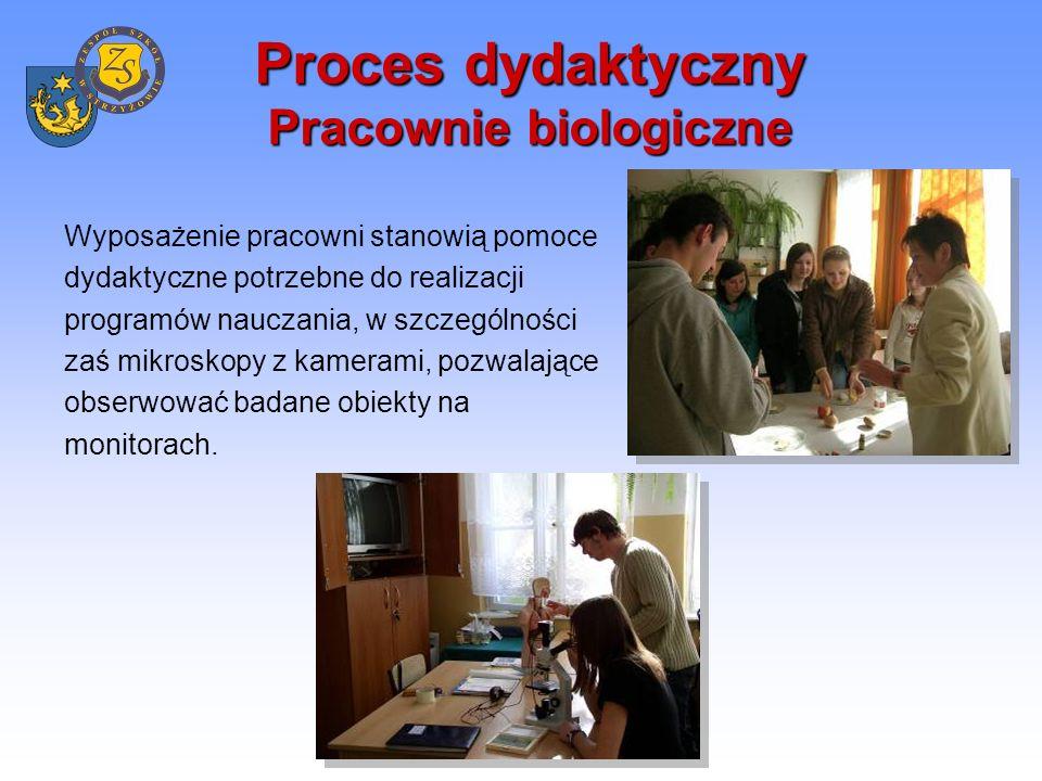 Proces dydaktyczny Pracownie fizyczne Nowoczesne i profesjonalnie wyposażone pracownie fizyczne pozwalają prowadzić zajęcia interesująco i ciekawie.