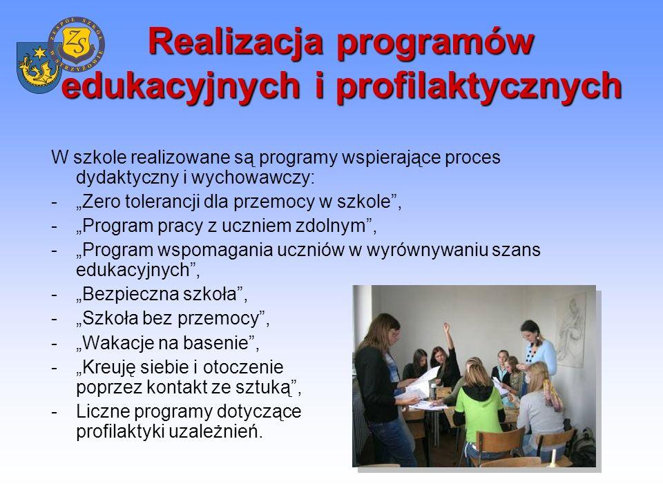 Współpraca międzynarodowa Niemcy -obozy językowe w Olsztynie połączone z doskonaleniem nauki języka niemieckiego w ramach współpracy z Centrum Młodzieży Polsko – Niemieckiej w Olsztynie, -pobyt uczniów naszej szkoły w Berlinie, pobyt młodzieży niemieckiej w Strzyżowie w ramach Programu Wymiany Młodzieży Polsko – Niemieckiej.