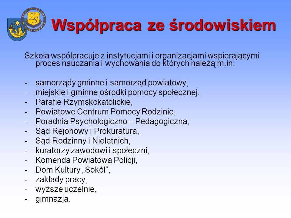 Pomoc materialna Szkoła oferuje następujące formy pomocy materialnej: -stypendia (Stypendium Prezesa Rady Ministrów, MEN, Stypendium im.