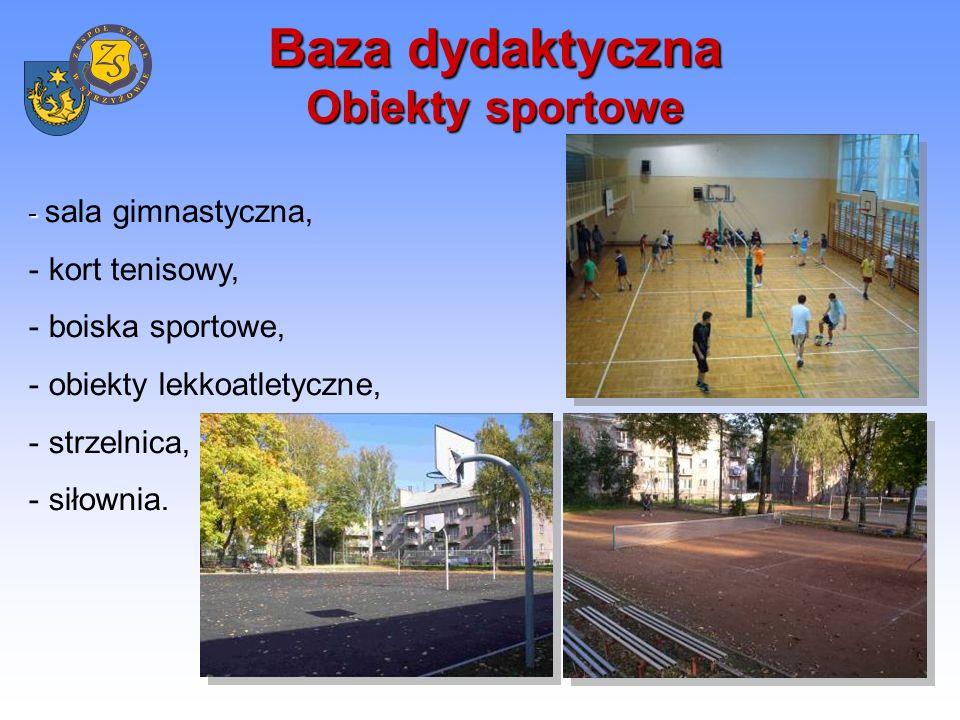 Baza dydaktyczna Obiekty sportowe Zajęcia sportowe prowadzone są również na krytej pływalni, stoku narciarskim i lodowisku.