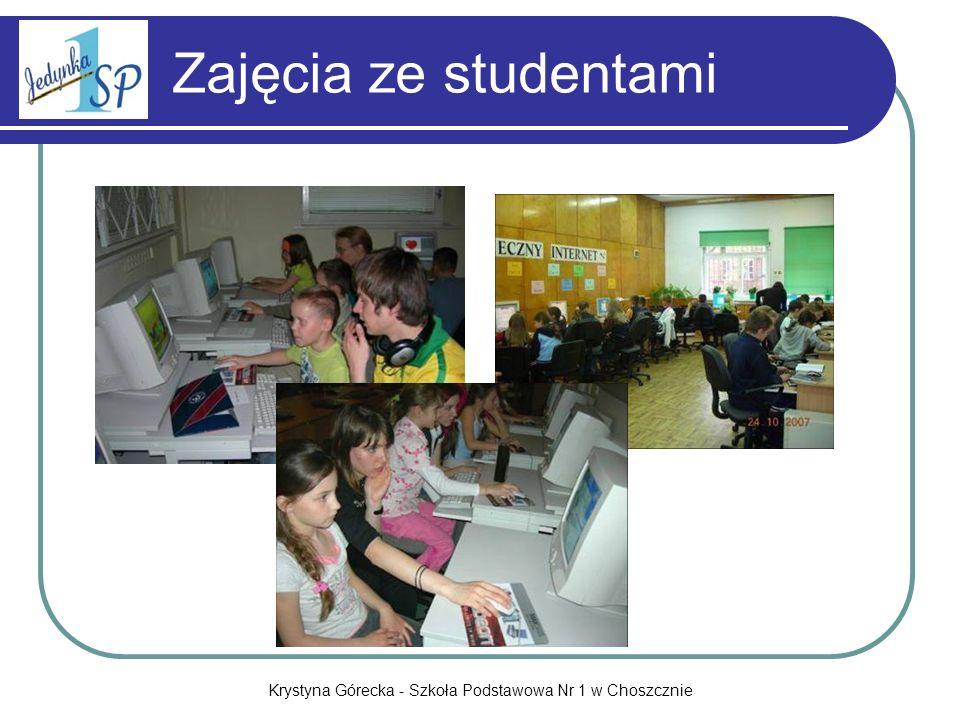 Krystyna Górecka - Szkoła Podstawowa Nr 1 w Choszcznie Zajęcia ze studentami