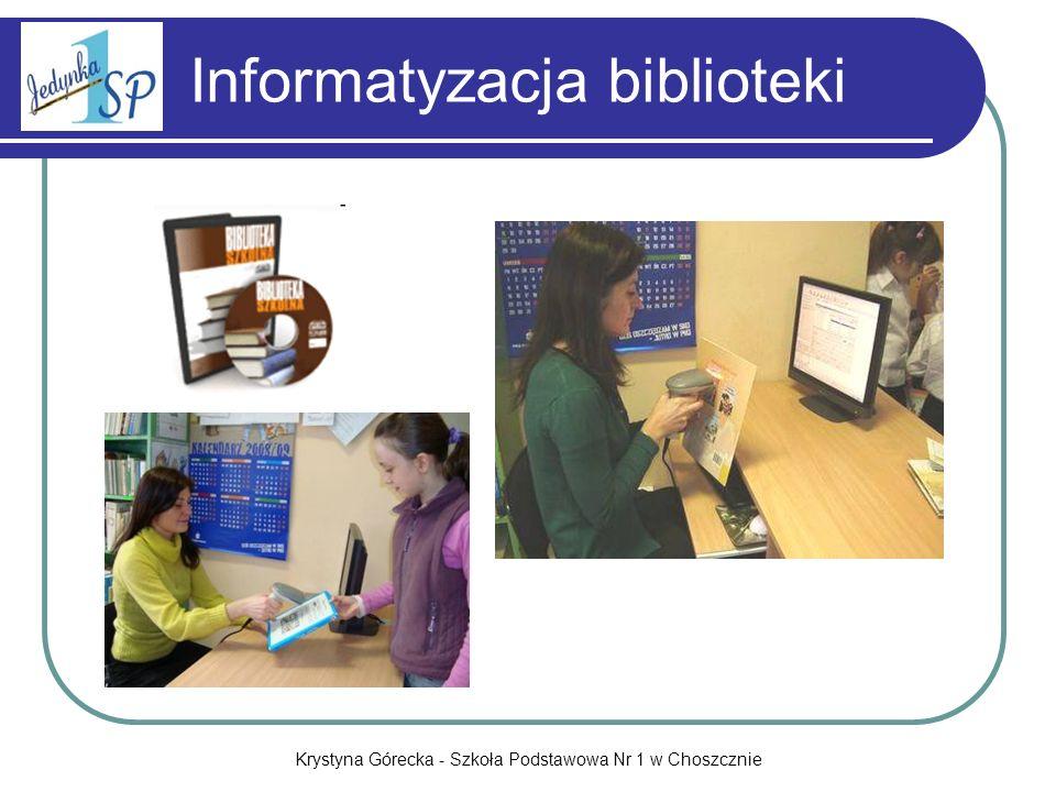Krystyna Górecka - Szkoła Podstawowa Nr 1 w Choszcznie Powiatowe konkursy informatyczne
