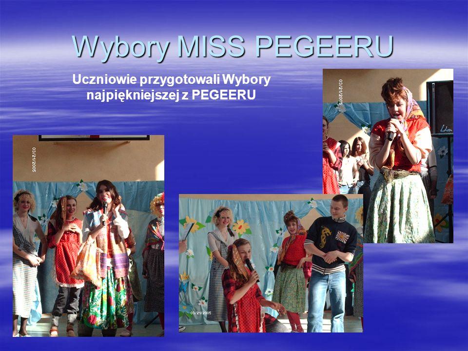 Wybory MISS PEGEERU Uczniowie przygotowali Wybory najpiękniejszej z PEGEERU