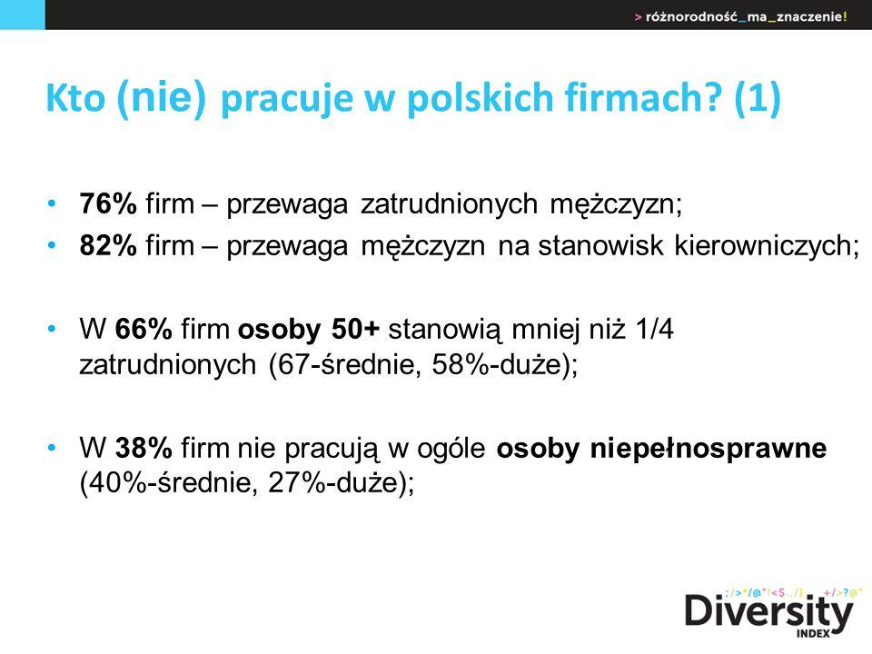 Kto (nie) pracuje w polskich firmach.