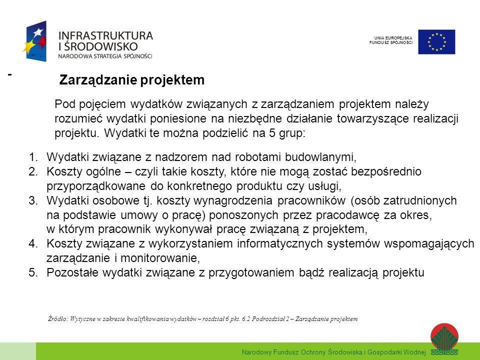 Narodowy Fundusz Ochrony Środowiska i Gospodarki Wodnej UNIA EUROPEJSKA FUNDUSZ SPÓJNOŚCI 1.