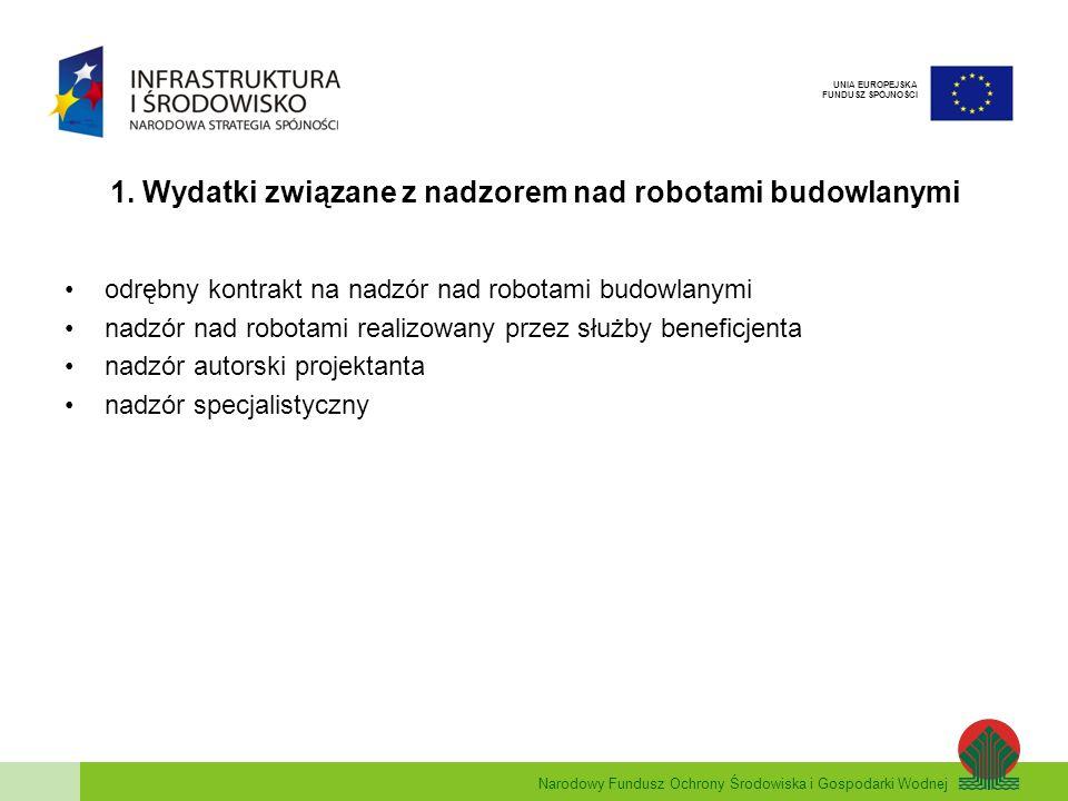 Narodowy Fundusz Ochrony Środowiska i Gospodarki Wodnej UNIA EUROPEJSKA FUNDUSZ SPÓJNOŚCI 2.