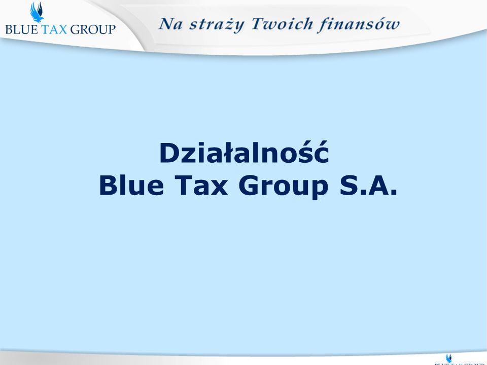 Działalność Blue Tax Group S.A.