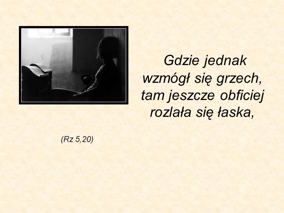 Gdzie jednak wzmógł się grzech, tam jeszcze obficiej rozlała się łaska, (Rz 5,20)