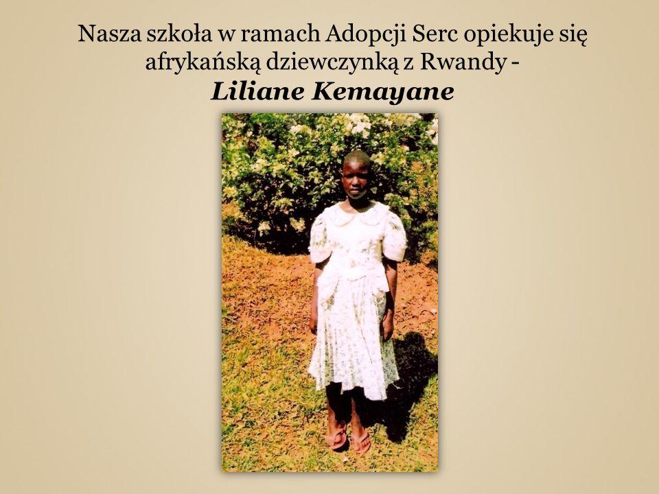 Nasza szkoła w ramach Adopcji Serc opiekuje się afrykańską dziewczynką z Rwandy - Liliane Kemayane