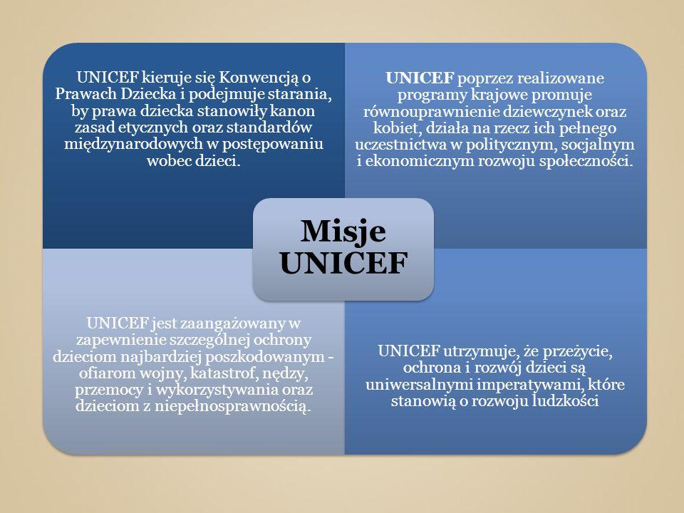 UNICEF kieruje się Konwencją o Prawach Dziecka i podejmuje starania, by prawa dziecka stanowiły kanon zasad etycznych oraz standardów międzynarodowych