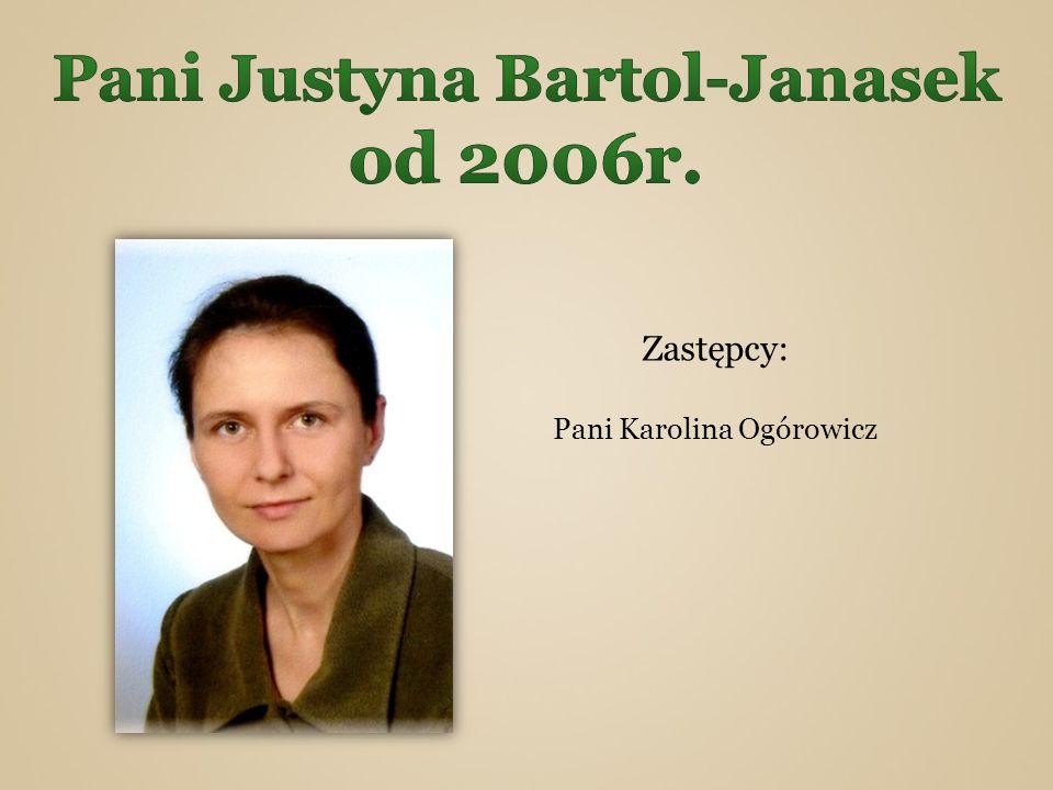 Zastępcy: Pani Karolina Ogórowicz