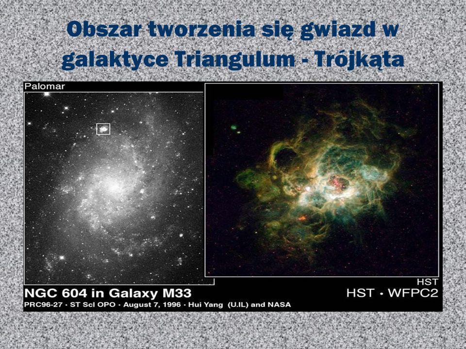 Obszar tworzenia się gwiazd w galaktyce Triangulum - Trójkąta