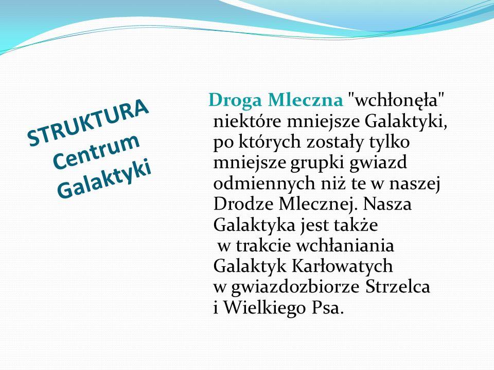STRUKTURA Centrum Galaktyki Droga Mleczna