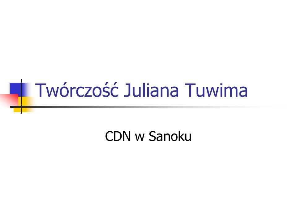 Twórczość Juliana Tuwima CDN w Sanoku