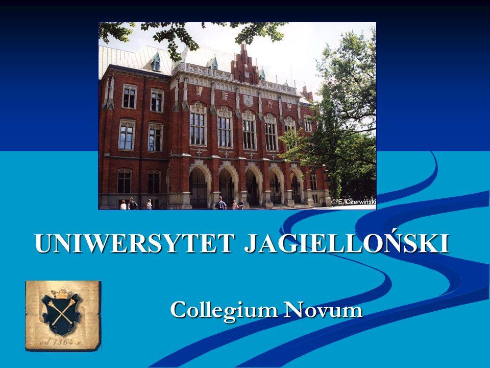 UNIWERSYTET JAGIELLOŃSKI Collegium Novum