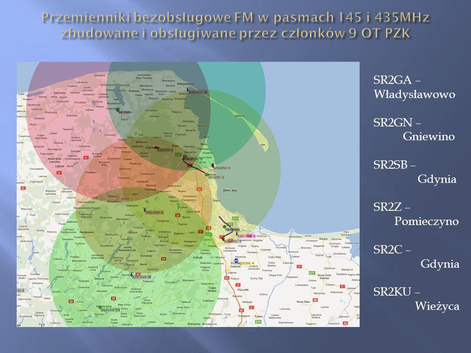 SR2GA – Władysławowo SR2GN – Gniewino SR2SB – Gdynia SR2Z – Pomieczyno SR2C – Gdynia SR2KU – Wieżyca