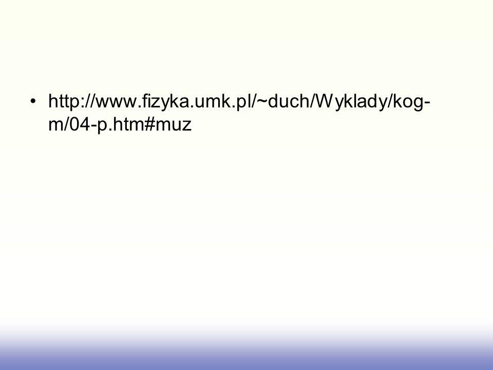 http://www.fizyka.umk.pl/~duch/Wyklady/kog- m/04-p.htm#muz