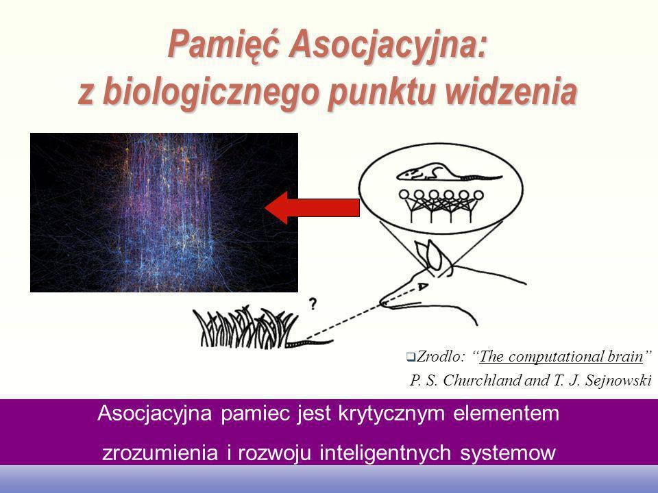 EE141 Pamięć Asocjacyjna: z biologicznego punktu widzenia Zrodlo: The computational brain P. S. Churchland and T. J. Sejnowski Asocjacyjna pamiec jest