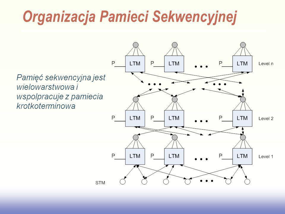 EE141 Organizacja Pamieci Sekwencyjnej Pamięć sekwencyjna jest wielowarstwowa i wspolpracuje z pamiecia krotkoterminowa