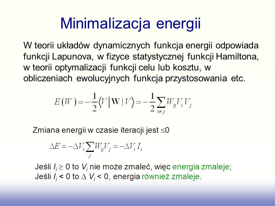W teorii układów dynamicznych funkcja energii odpowiada funkcji Lapunova, w fizyce statystycznej funkcji Hamiltona, w teorii optymalizacji funkcji cel