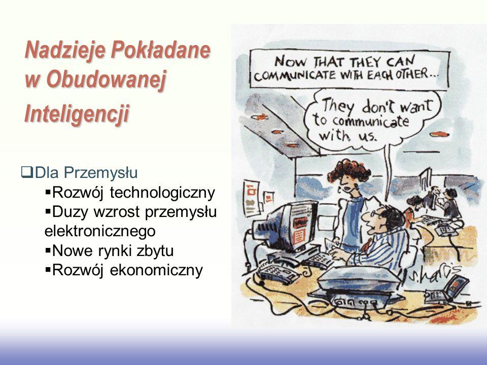 EE141 Nadzieje Pokładane w Obudowanej Inteligencji Dla Przemysłu Rozwój technologiczny Duzy wzrost przemysłu elektronicznego Nowe rynki zbytu Rozwój ekonomiczny