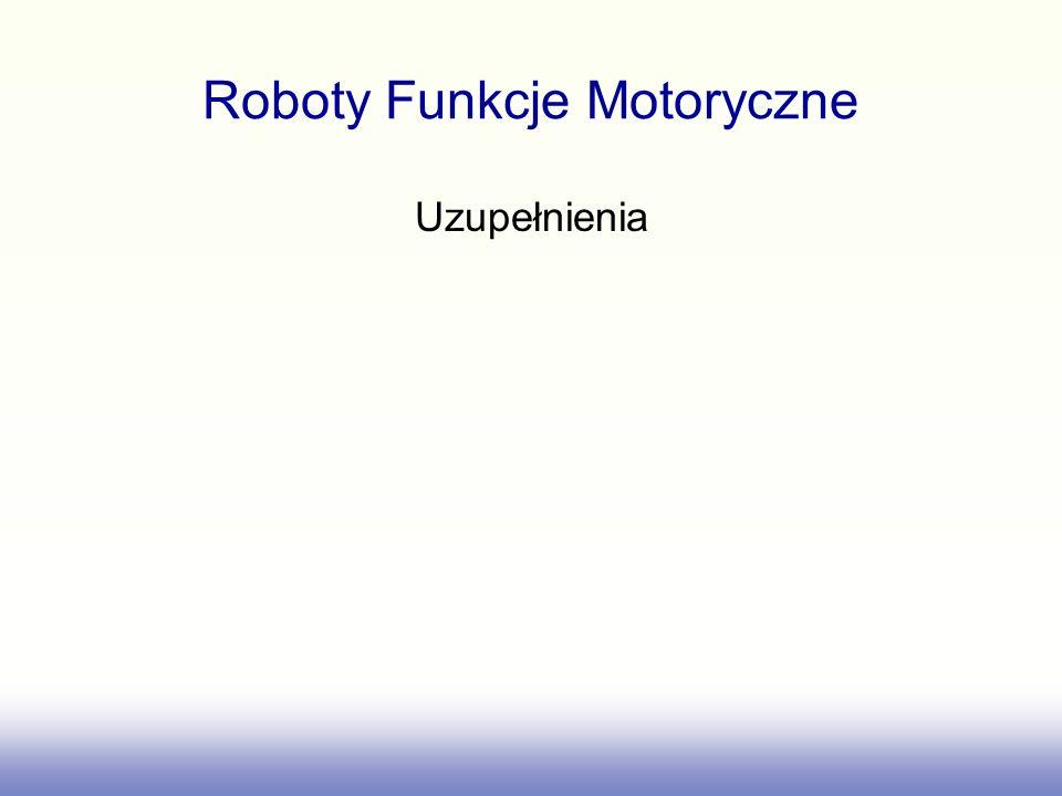 Roboty Funkcje Motoryczne Uzupełnienia