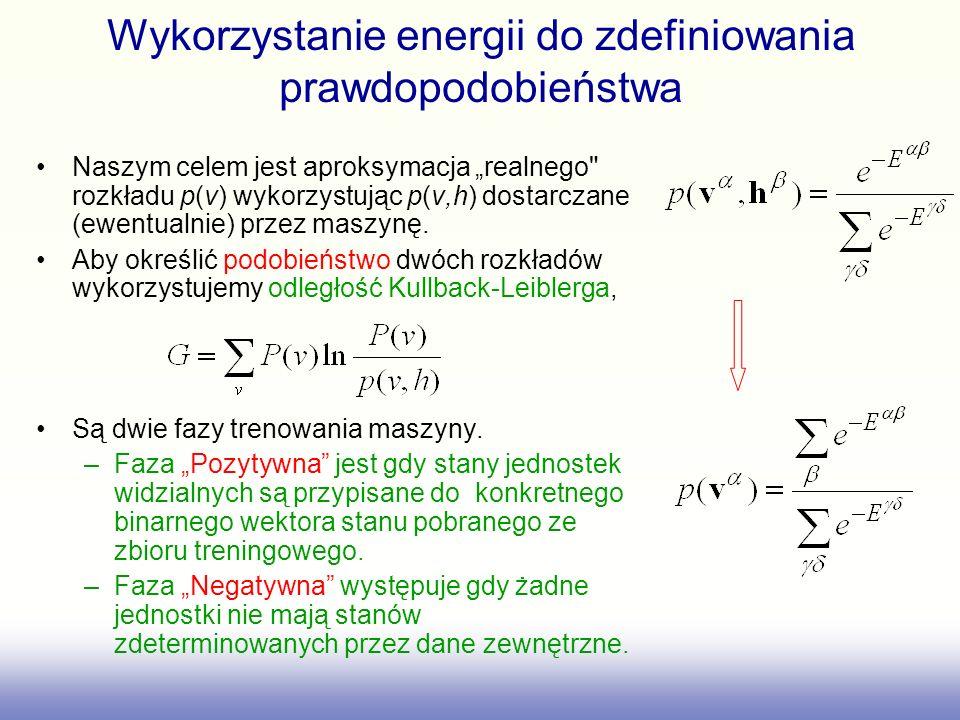 Wykorzystanie energii do zdefiniowania prawdopodobieństwa Naszym celem jest aproksymacja realnego