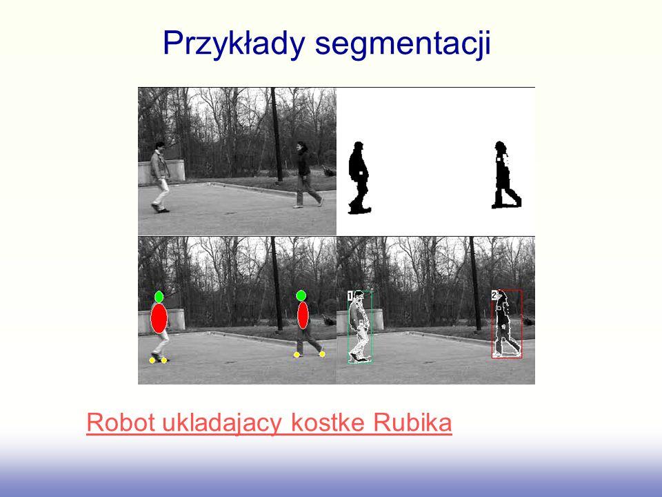 Przykłady segmentacji Robot ukladajacy kostke Rubika