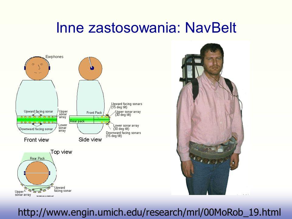 Inne zastosowania: NavBelt http://www.engin.umich.edu/research/mrl/00MoRob_19.html