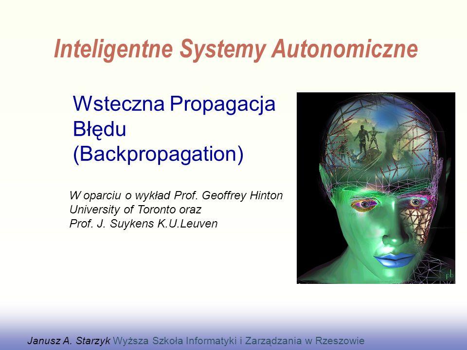 Wsteczna Propagacja Błędu (Backpropagation) Wykład z Uzupełnieniami
