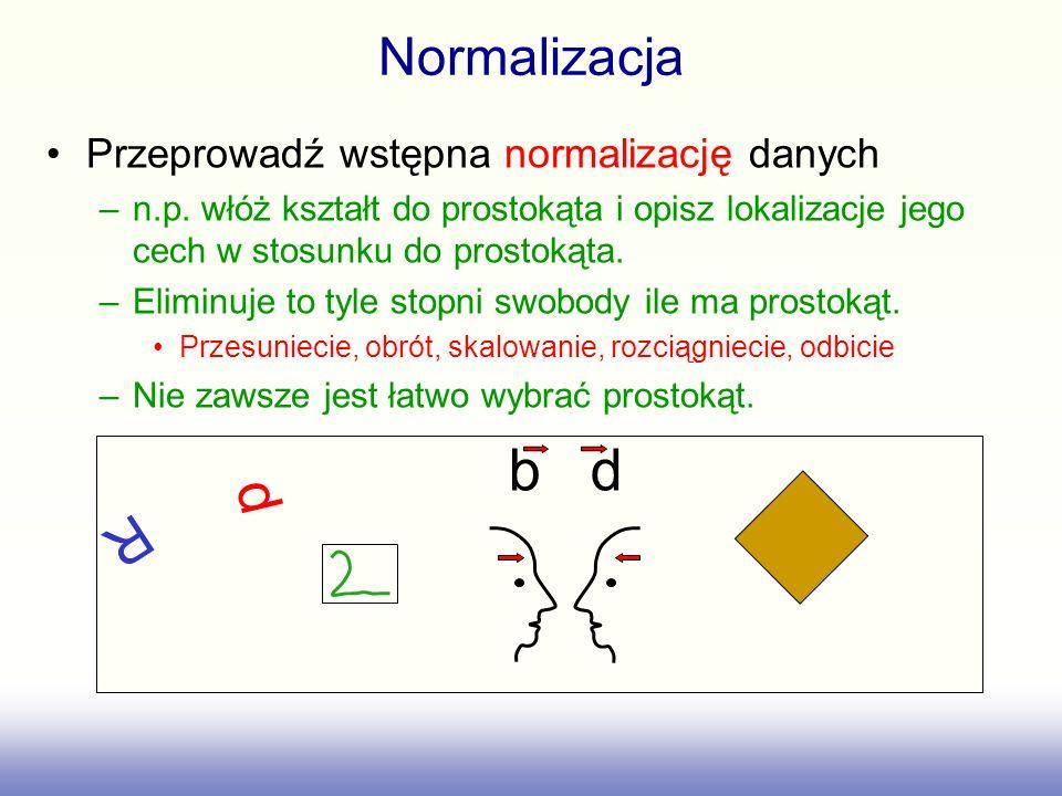 Normalizacja Przeprowadź wstępna normalizację danych –n.p.