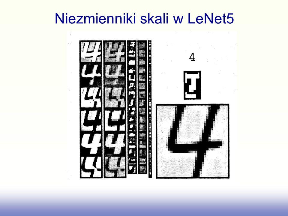 Niezmienniki skali w LeNet5