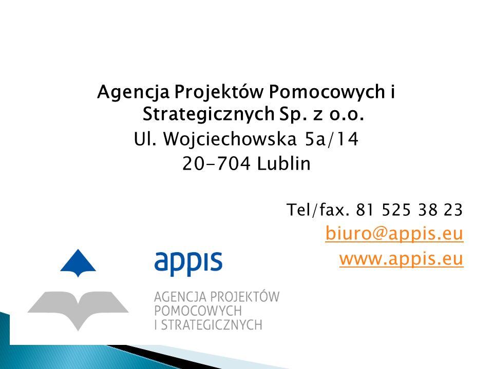 Agencja Projektów Pomocowych i Strategicznych Sp. z o.o.