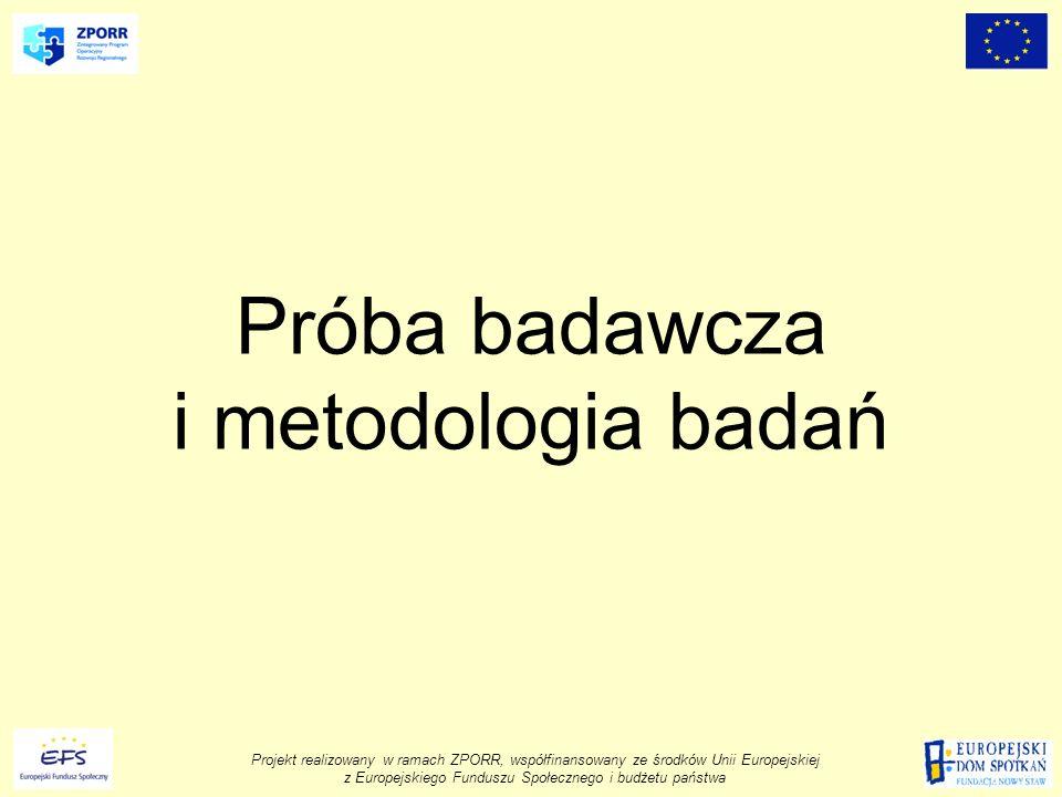 Próba badawcza i metodologia badań
