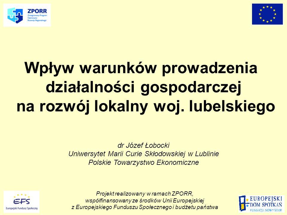 Projekt realizowany w ramach ZPORR, współfinansowany ze środków Unii Europejskiej z Europejskiego Funduszu Społecznego i budżetu państwa Konferencja podsumowująca dorobek projektu