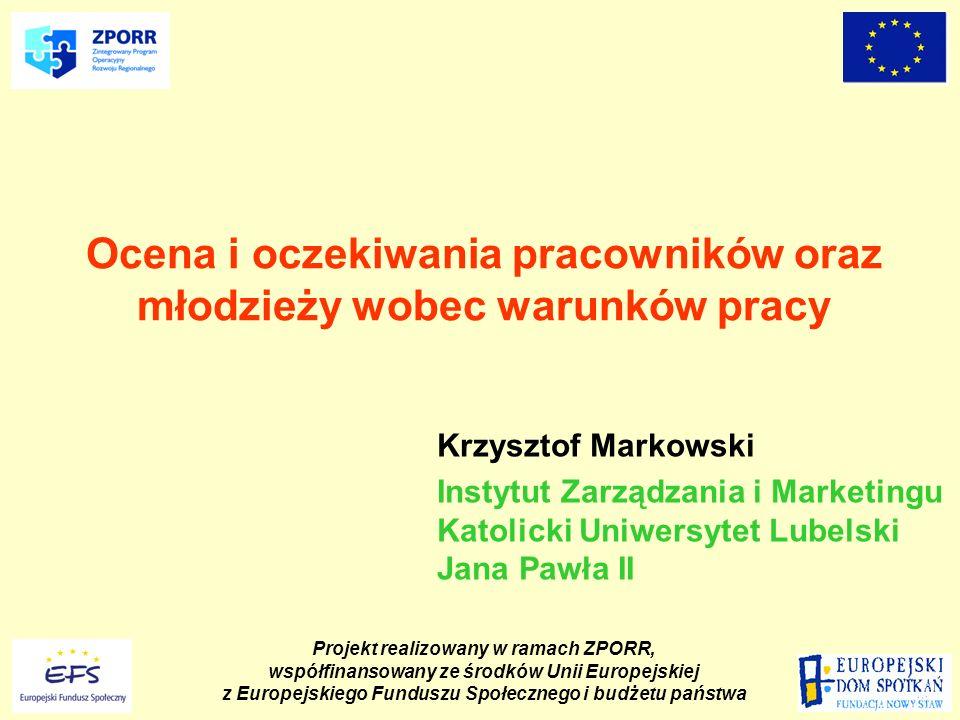 Projekt realizowany w ramach ZPORR, współfinansowany ze środków Unii Europejskiej z Europejskiego Funduszu Społecznego i budżetu państwa Konferencja podsumowująca dorobek projektu Porównanie