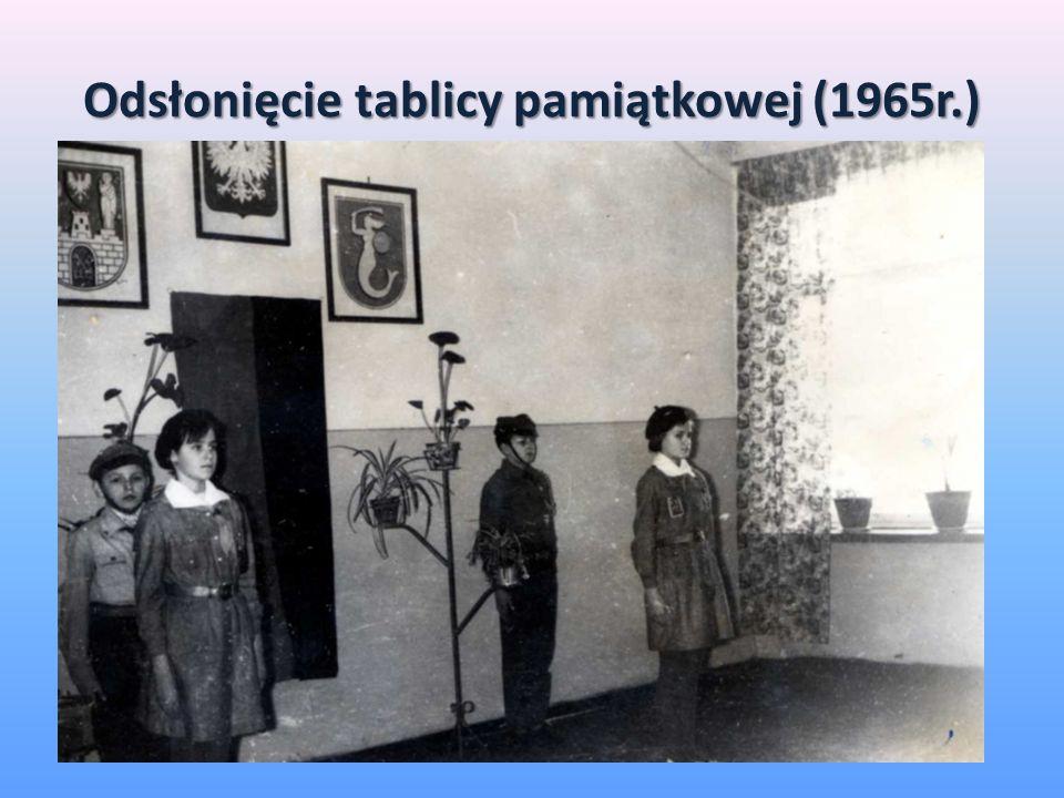 Odsłonięcie tablicy pamiątkowej (1965r.)