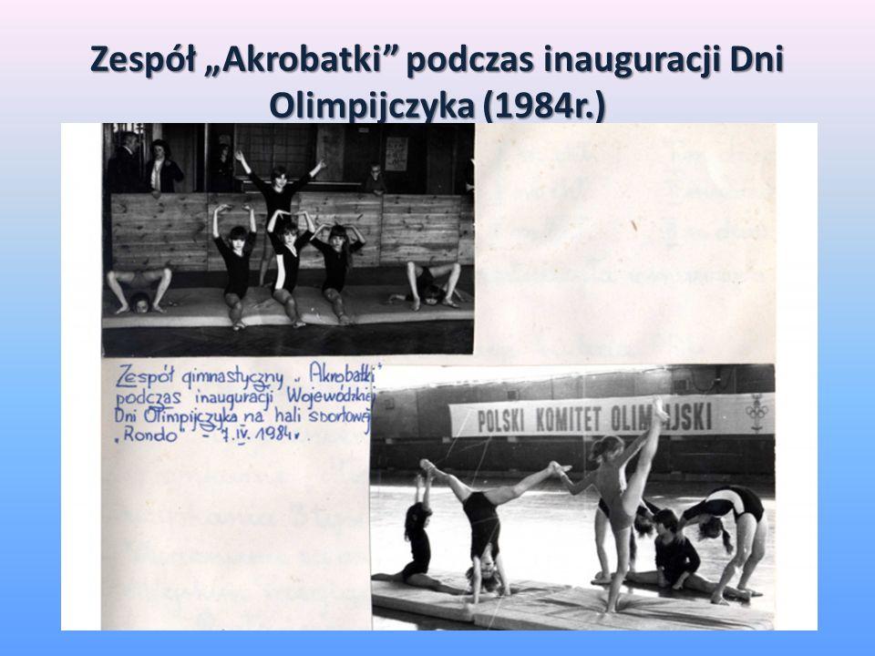Zespół Akrobatki podczas inauguracji Dni Olimpijczyka (1984r.)