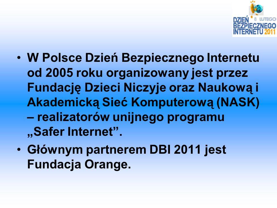 W Polsce Dzień Bezpiecznego Internetu od 2005 roku organizowany jest przez Fundację Dzieci Niczyje oraz Naukową i Akademicką Sieć Komputerową (NASK) –