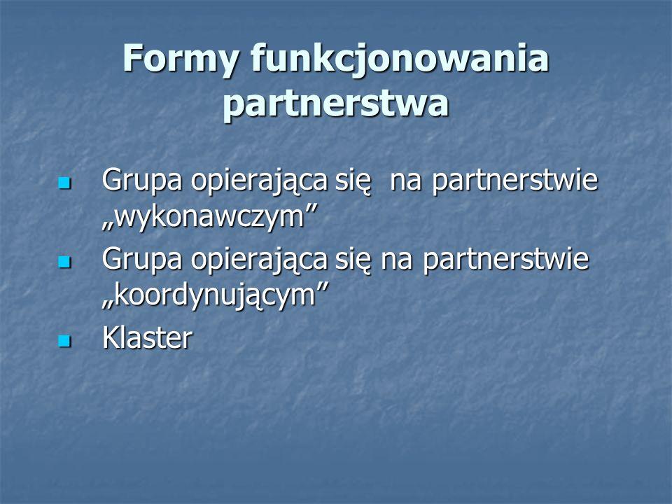 Warunki dobrego funkcjonowania partnerstwa Po pierwsze: cel Po pierwsze: cel Właściwy dobór uczestników.