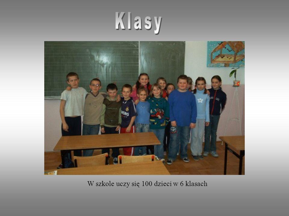 W szkole uczy się 100 dzieci w 6 klasach