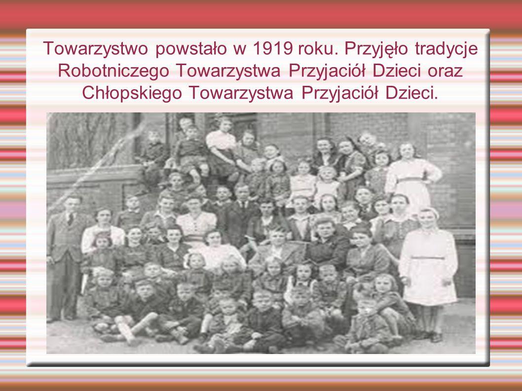 Towarzystwo powstało w 1919 roku.
